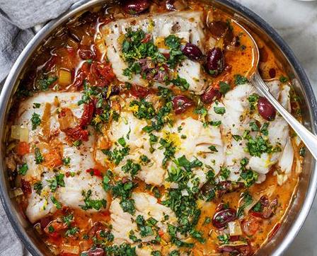 Italiensk torsk i panna